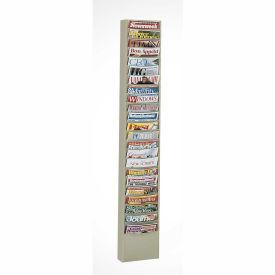 23 Pocket Vertical Literature Rack - Putty
