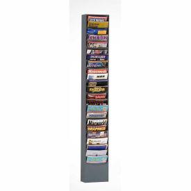 23 Pocket Vertical Literature Rack - Gray