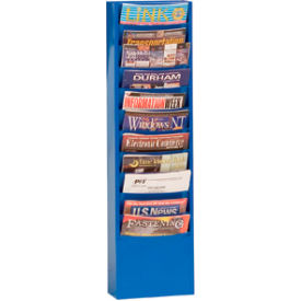 11 Pocket Vertical Literature Rack - Blue