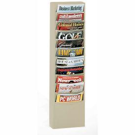 11 Pocket Vertical Literature Rack - Putty