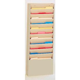 11 Pocket Medical Chart & Special Purpose Literature Rack - Tan