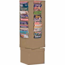 44 Pocket Rotary Literature Rack - Putty