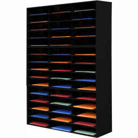 45 Opening Horizontal Literature Rack - Black