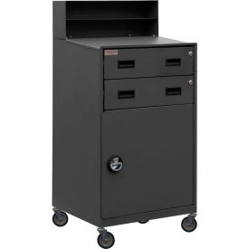 "Durham FED-2023-95 23""W x 51""H Mobile Shop Desk - Closed"