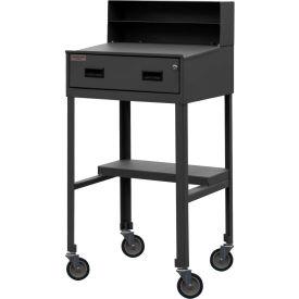 """Durham MSD-2023-95 23""""W x 51""""H Mobile Shop Desk - Open"""