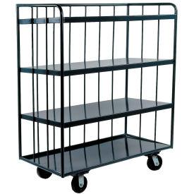 Durham Mfg® Three-Sided Shelf Truck OPT-7236-95 72x36