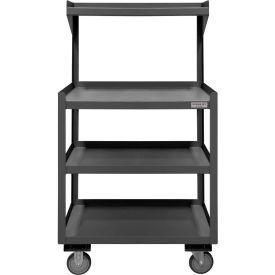 """Durham PSD-2430-4-95 24""""W x 54""""H  Mobile Shop Desk - 4 Shelves"""