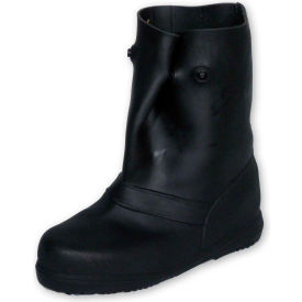 """TREDS 12"""" Rubber Overboots, Men's, Black, Size 8-10, 1 Pair"""