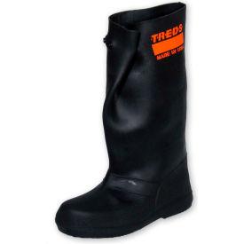 """TREDS 17"""" Rubber Slush Boots, Men's, Black, Size 8-10, 1 Pair"""
