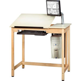 """Drafting Table 42""""L x 30""""W - 2 Piece Top"""