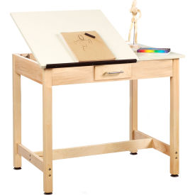 """Drafting Table 36""""L x 24""""W x 30""""H - 2 Piece Top - Small Drawer"""