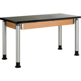 """Diversified Woodcrafts Adjustable Height Science Table - 48""""L x 24""""W - ChemGuard Top"""