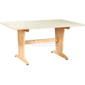 "Planning Table 60""L x 42""W x 30""H - Almond Plastic Laminate Top"