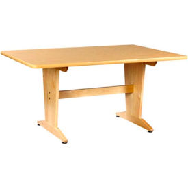 """Planning Table 60""""L x 42""""W x 26""""H - Natural Birtch Plastic Laminate Top"""