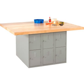 "Workbench without Vises 64""L x 54""W - Maple Top"