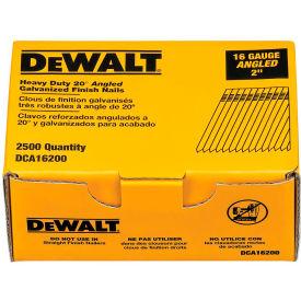 "DeWalt 20° Angled Finish Nails, DCA16200, 16 Gauge, 2""L, 2500/Box - Pkg Qty 4"