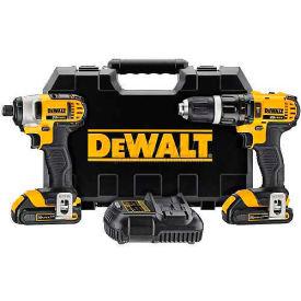 DeWALT DCK285C2 20V MAX Li-Ion Cordless Hammer Drill/Impact Driver Combo Kit 2-Tool 1.5Ah