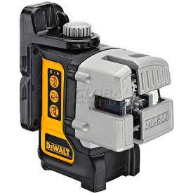 "DeWALT® Self Leveling 3 Beam Line Laser, DW089K, 50' Range, 1/8"" Accuracy"
