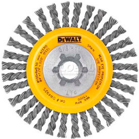 "DeWalt DW49202B HP Stringer Wire Wheel 6"" X 5/8-11"" .020"" Carbon..."