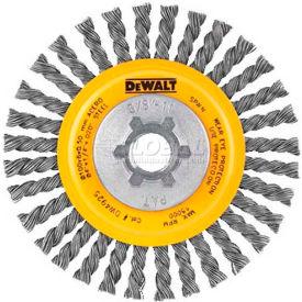 """DeWalt HP Stringer Wire Wheel, DW49204B, 4"""" X 5/8-11"""", 20000 RPM, .020"""" Stainless Steel Wire, 6/PK - Pkg Qty 6"""
