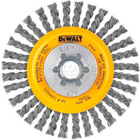 "DeWalt DW4925B HP Stringer Wire Wheel 4"" X 5/8-11"" .020"" Carbon..."