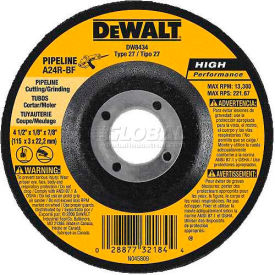 "DeWalt DW8437 Metal Cutting & Grinding Wheel Type 27 7"" DIA. 24 Grit Aluminum Oxide Package Count 10 by"