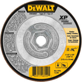 "DeWalt DWA8907 XP Ceramic Metal Grinding Wheels Type 27 4-1/2"" x 5/8"" -11 24 Grit Ceramic Package Count 10 by"
