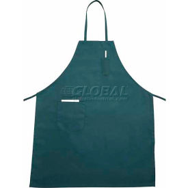 "Winco BA-PGN Full Length Bib Apron with Pocket, Green, 31""x26"" - Pkg Qty 12"