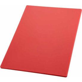 "Winco CBRD-1520 Cutting Board, 15""L, 20""W, 1/2""H, Red - Pkg Qty 6"