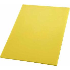 """Winco CBYL-1520 Cutting Board, 15""""L, 20""""W, 1/2""""H, Yellow - Pkg Qty 6"""