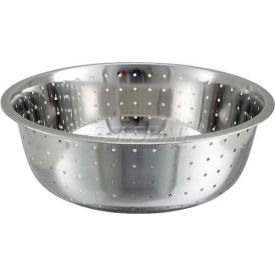 """Winco CCOD-15L Chinese Style Colander, 15""""D, Stainless Steel - Pkg Qty 12"""