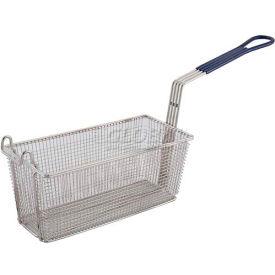 Winco FB-20 Heavy Duty Fry Basket, Rectangle, Blue Plastic - Pkg Qty 6