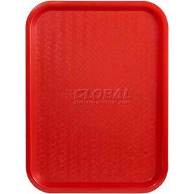 """Winco FFT-1216R Fast Food Tray, Red, 12""""x 16"""" - Pkg Qty 12"""
