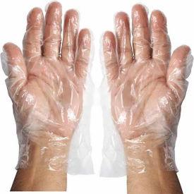 Winco GLP-M Disposable PE Gloves, Medium, Clear - Pkg Qty 10