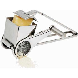 Winco GRTS-1 Rotary Cheese Grater with Drum, Stainless Steel Package Count 12 by