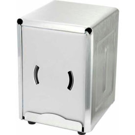 "Winco NH-5 Countertop Napkin Dispenser, 4-3/4""L, 3-3/4""W, 5-1/2""H, Stainless Steel - Pkg Qty 10"