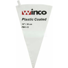 "Winco PBC-12 Pastry Bag, 12"", Cotton, Plastic Coated Package Count 24 by"