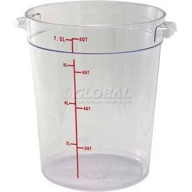 Winco PCRC-8 Round Storage Container, 8 Qt, Clear, Polycarbonate - Pkg Qty 12