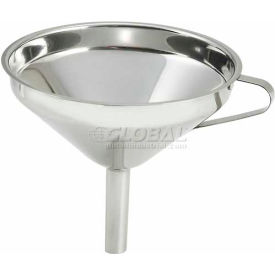 """Winco SF-6 Wide Mouth Funnel, 5-3/4""""D, Stainless Steel - Pkg Qty 12"""