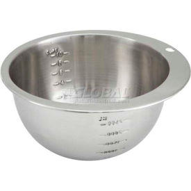 Winco SMB-10 Measuring Bowl, 10 Cup, Stainless Steel Package Count 24 by