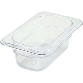 """Winco SP7902 1/9-Size Food Pan, 2-1/2""""H, -40°F to 210°F, Polycarbonate - Pkg Qty 12"""