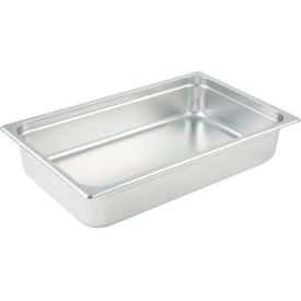 "Winco SPJL-104 Steam Pan, Full-size, 4""H - Pkg Qty 6"