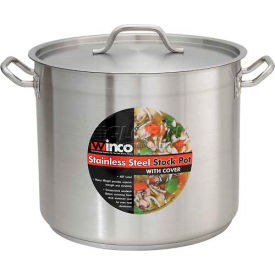 Winco SST-12 Stock Pot W/ Cover, 12 Qt.