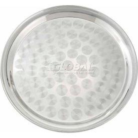 "Winco STRS-12 Round Tray W/ Swirl Design, Swirl Pattern, 12""D, Stainless Steel, Mirror Finish - Pkg Qty 12"