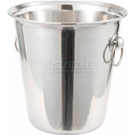 Winco WB-4 Wine Bucket, 4 Qt, Stainless Steel - Pkg Qty 6