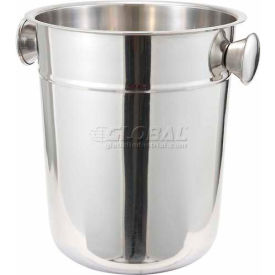 Winco WB-8 Wine Bucket, 8 Qt, Stainless Steel - Pkg Qty 6