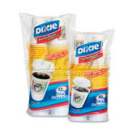 Dixie Cup/Lid Combo, PerfecTouch®, 12 Oz., 50/Pack, Coffee Dreams Design