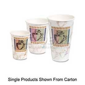Dixie Insulated Hot Paper Cups, PerfecTouch®, 16 Oz., 25/Pack, Coffee Dreams Design