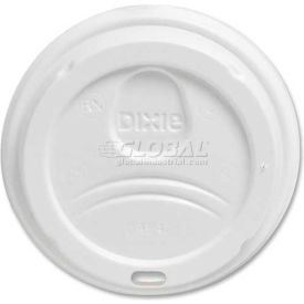 Dixie DXE9542500DXPK - Lids, Dome, Drink-Thru, Fits 10 - 20 Oz. PerfecTouch® White, 50/Pack