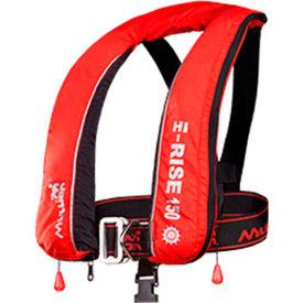Mullion 1MV6 Hi-Rise Inflatable Lifevest, SOLAS/MED, Red, Adult/Universal